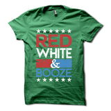 Red White & Booze Shirt