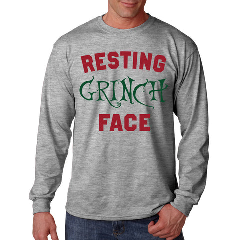 Resting Grinch Face Long Sleeve T-Shirt