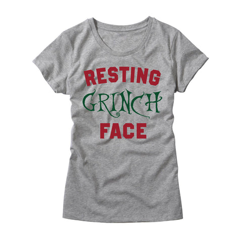 Womens Resting Grinch Face T-Shirt