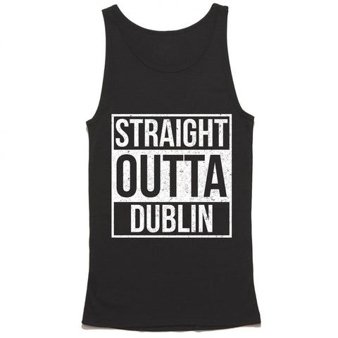 straight outta dublin tank top - funny st pattys day tank top
