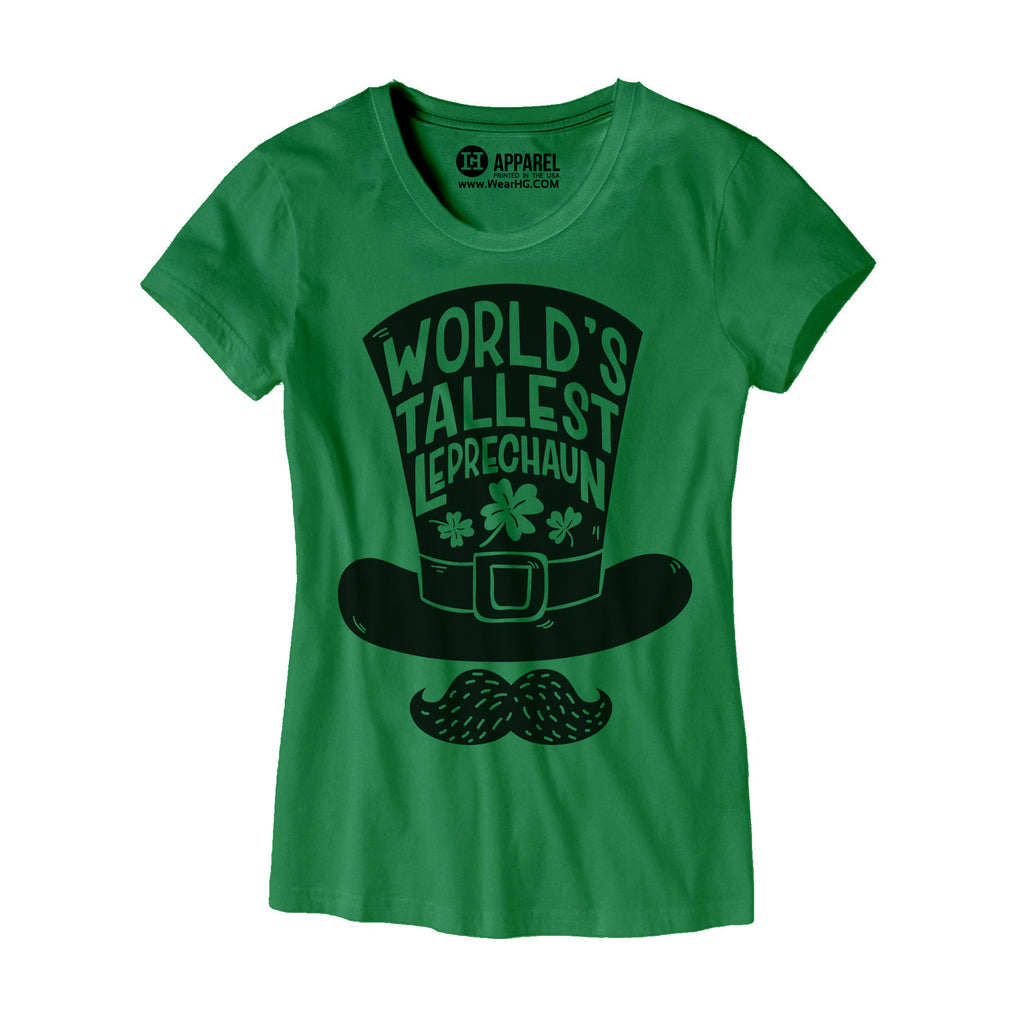 Womens Worlds Tallest Leprechaun T-Shirt