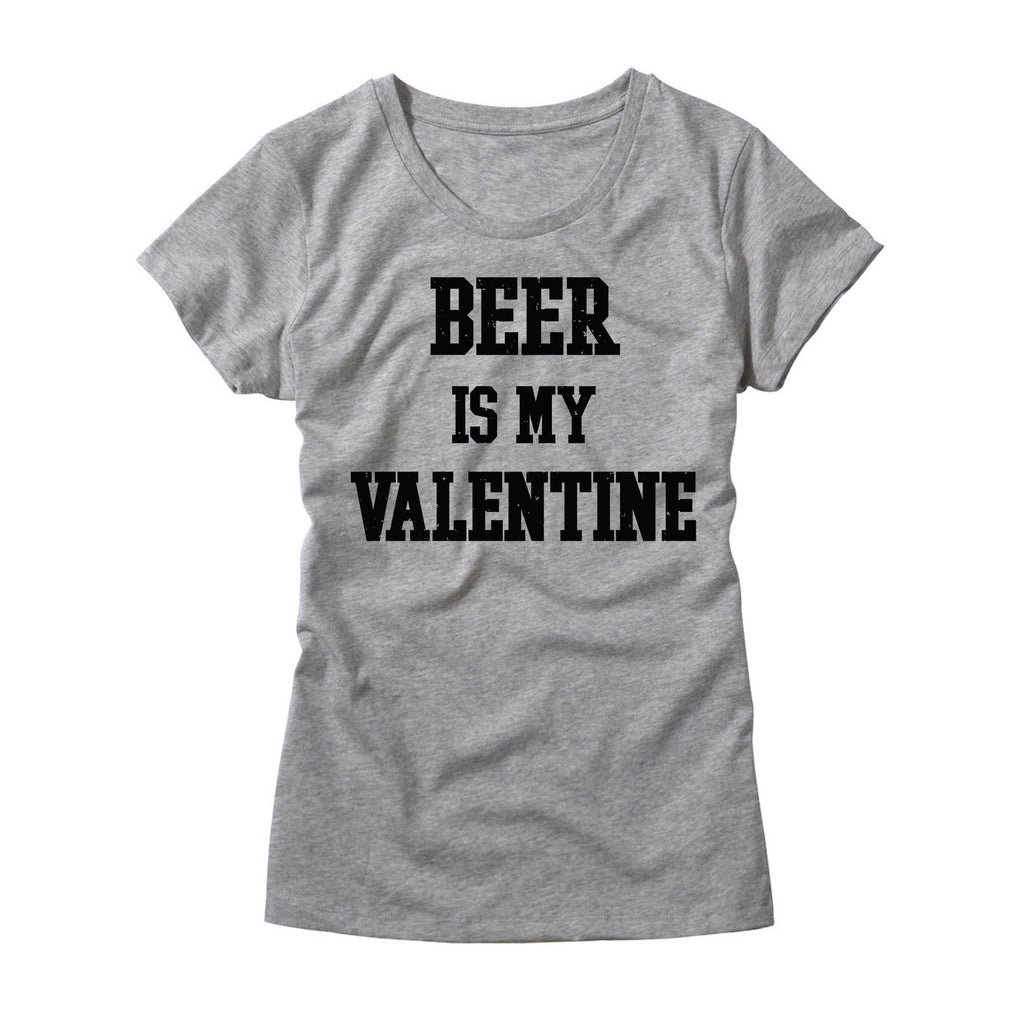 d3583cd5 Beer Is My Valentine Womens T-Shirt - Funny Beer Shirt – HG Apparel