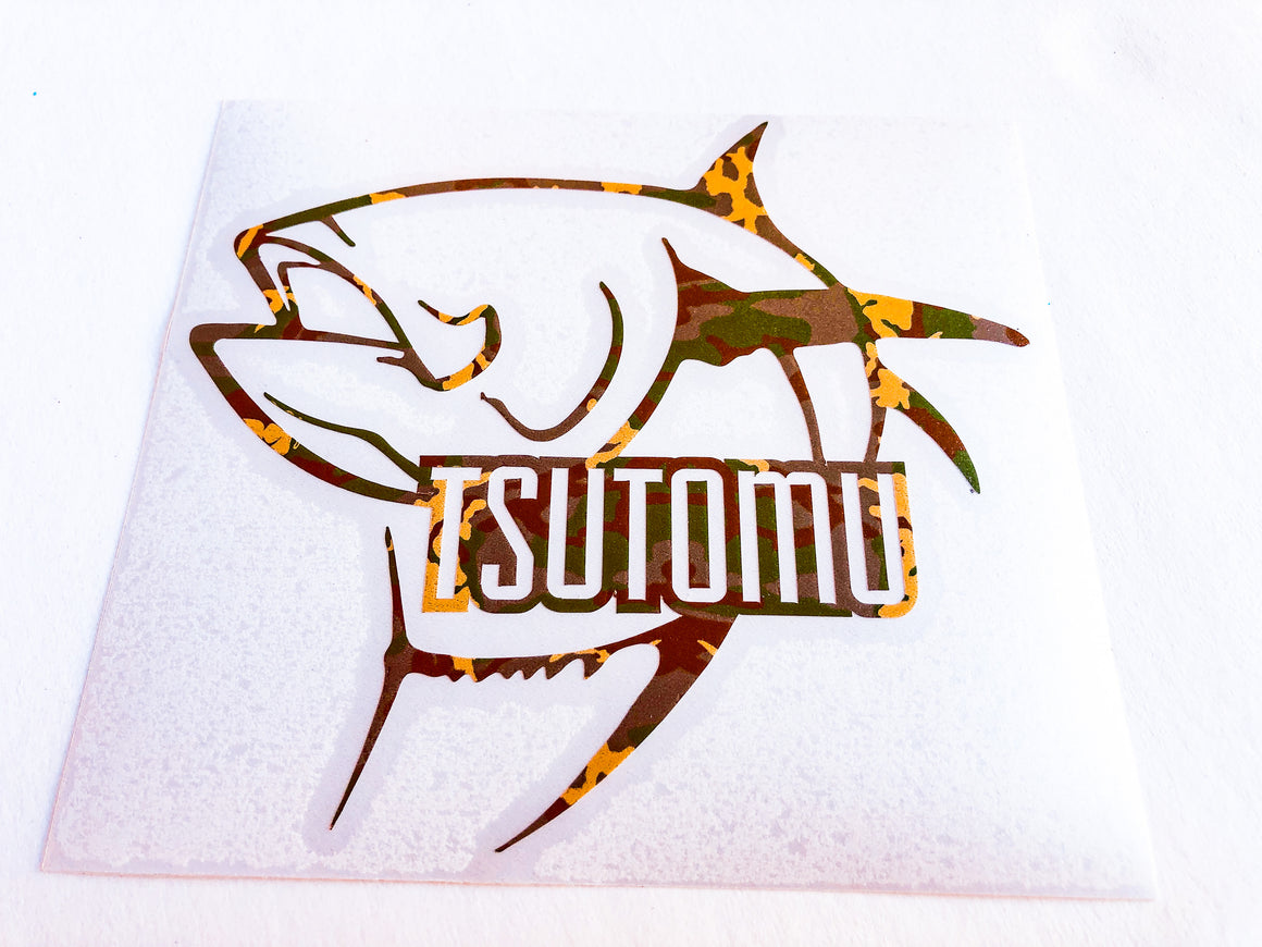 "Camo Ahi Logo 6"" Sticker"
