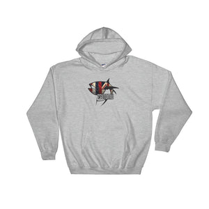 Tsutomu Ahi: Hawaiian Hooded Sweatshirt