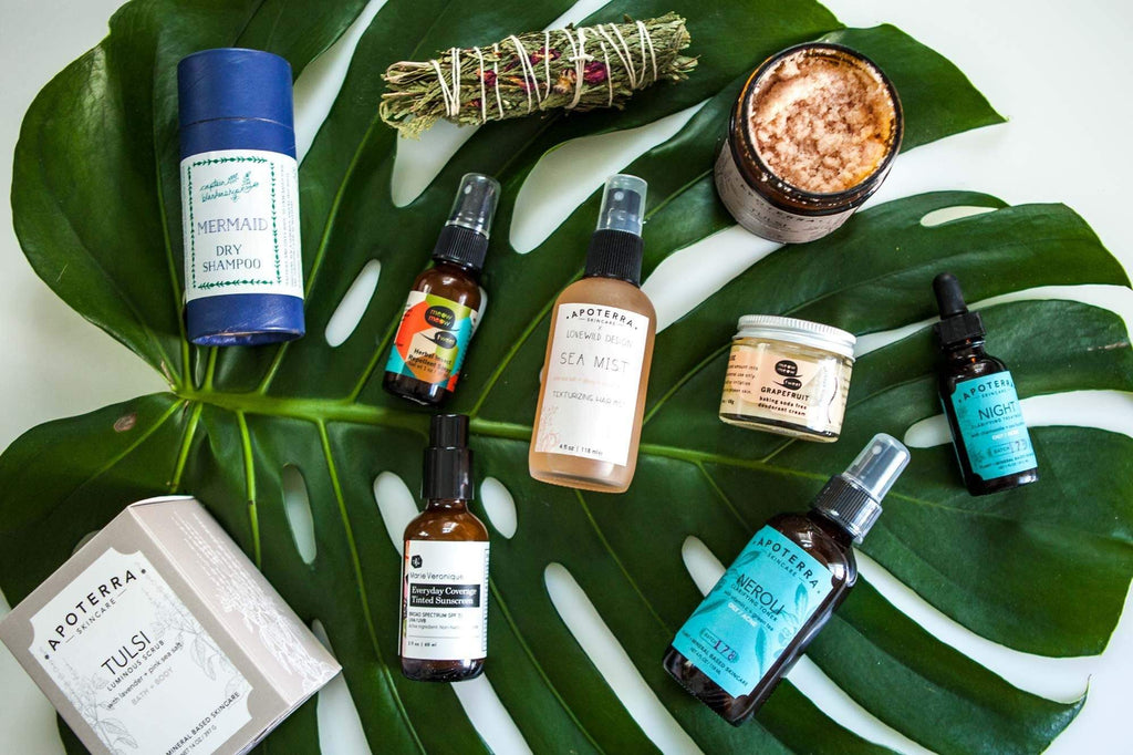 Summer essential natural skincare
