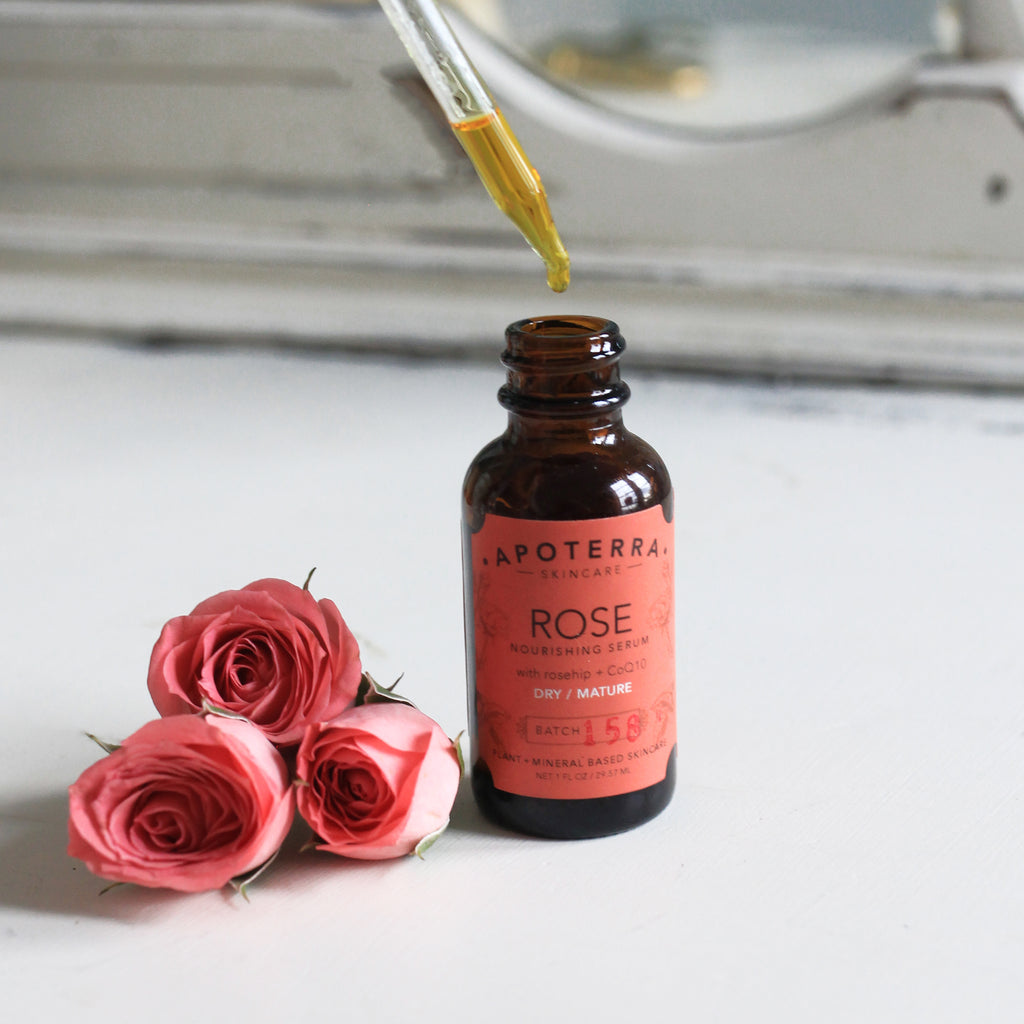 Rose Nourishing Serum with CoQ10 and Rosehip oil