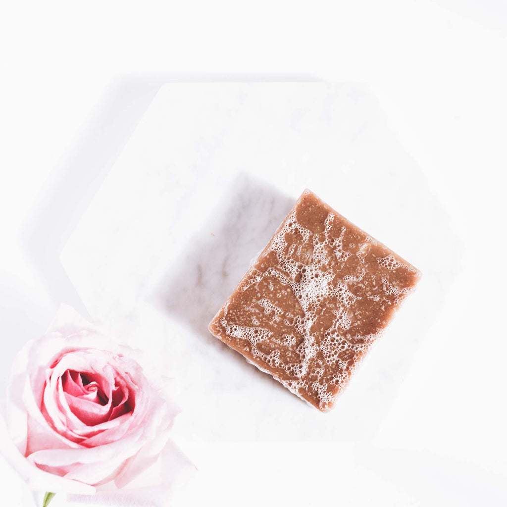 Aloe + Rose Petal clay soap