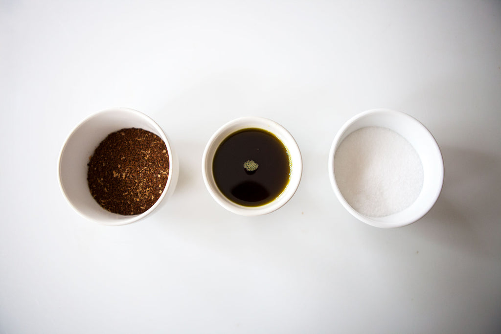 3 ingredients is all you need to make a kick ass coffee scrub.  Find out DIY recipe on our blog at www.apoterraskincare.com