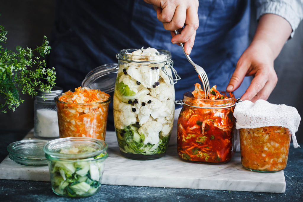 Kimchi to strengthen the gut for hormonal acne