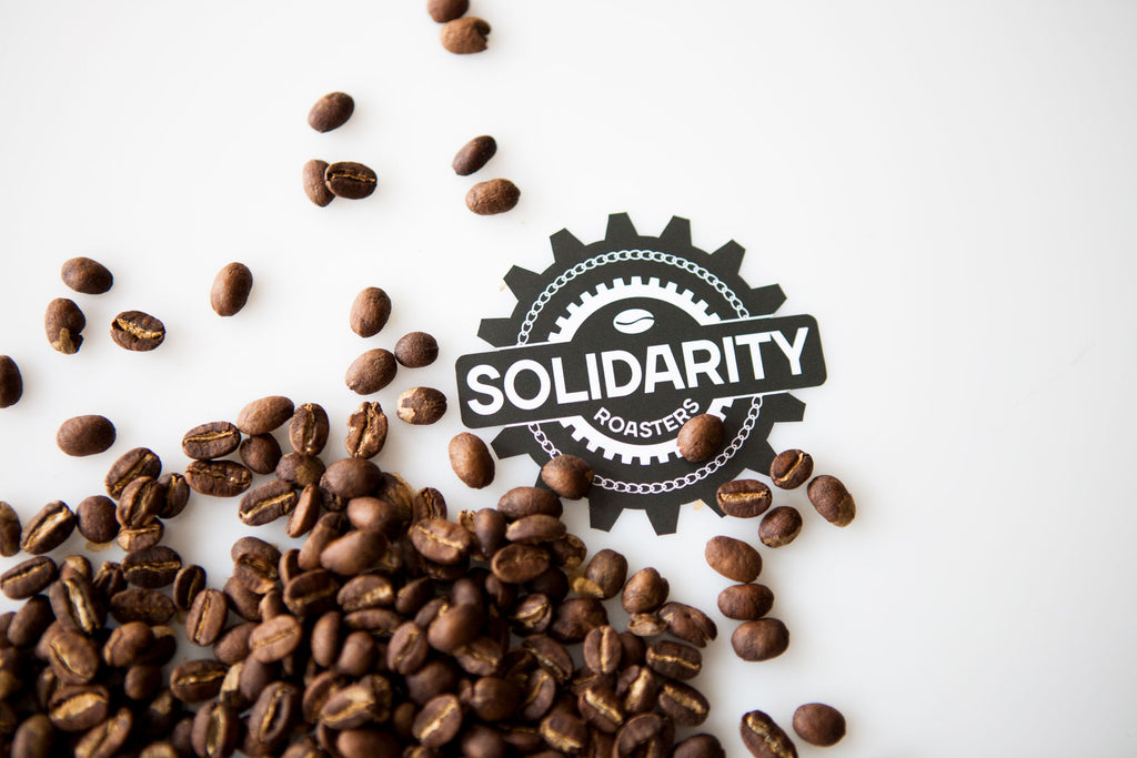 Solidarity Roasters roasts fair trade and organic coffee for our coffee scrub soap.  www.apoterraskincare.com