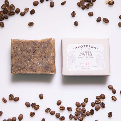 organic coffee soap that exfoliates
