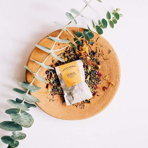 Herbal Detoxifying Steam with Flowers and Cleansing Herbs sample