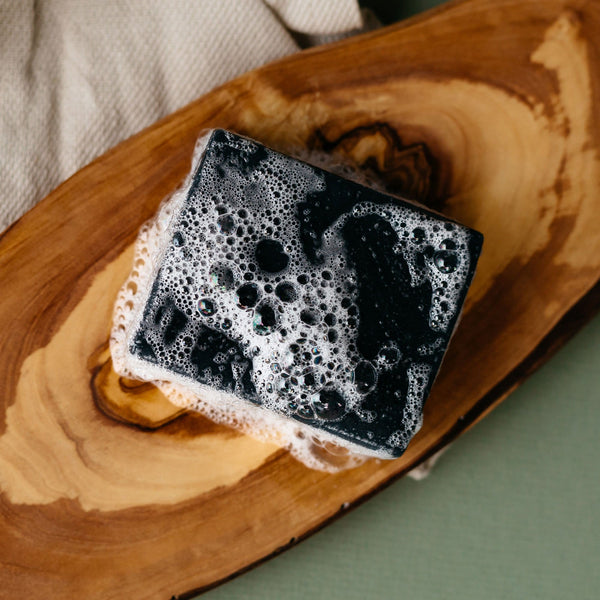 Activated Charcoal Face Bar Soap - a great start to a nourishing routine for acne-prone skin
