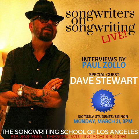 Dave Stewart interviewed by Paul Zollo at The Songwriting School of Los Angeles