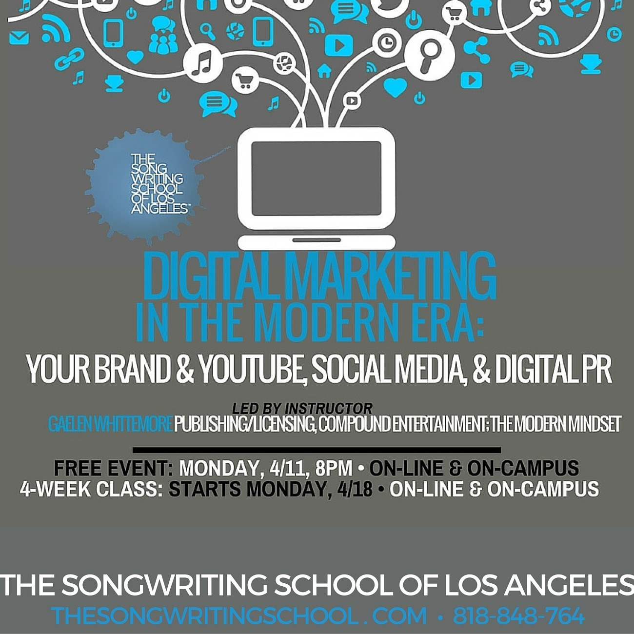Free event digital marketing for musicians the for Digital marketing materials