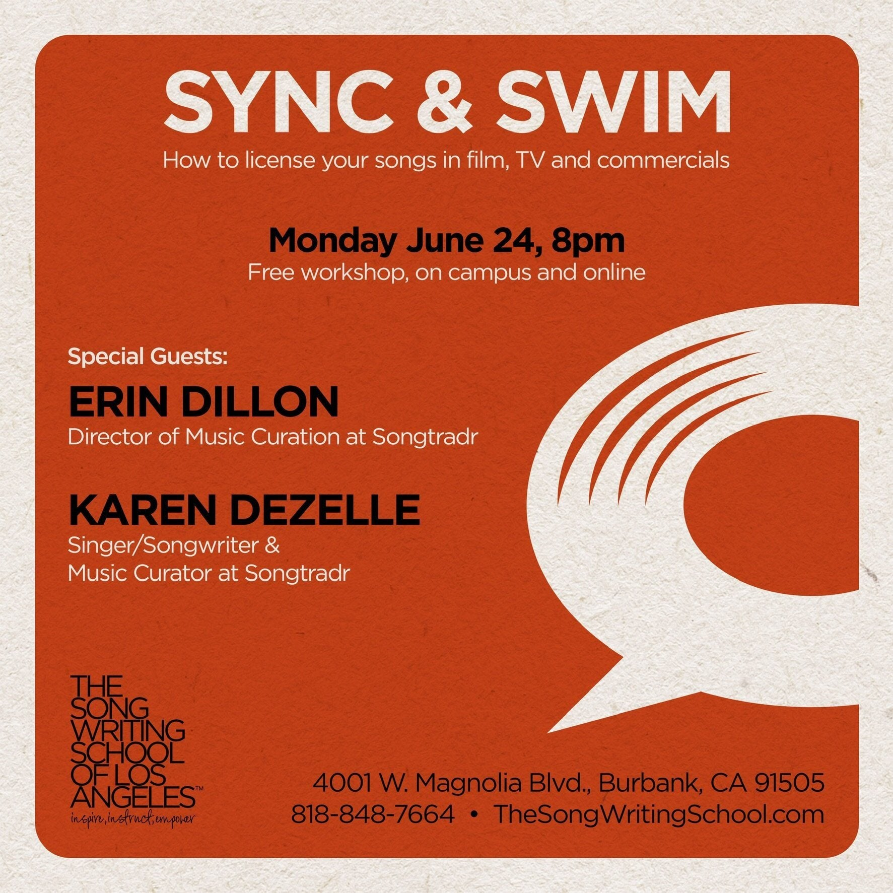 FREE EVENT: SYNC & SWIM - How to License Your Songs in Film