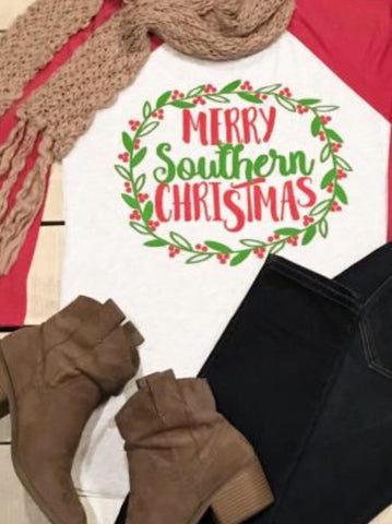 Merry Southern Christmas T Shirt