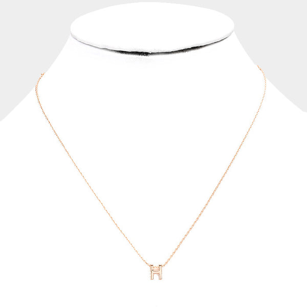 Rose Gold Monogram Necklace