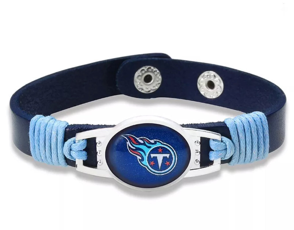 Tennessee Titans Leather Bracelet