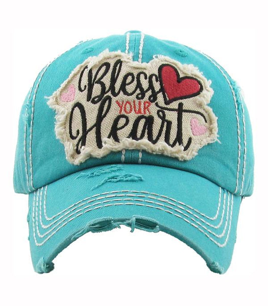 Bless Your Heart Ball Cap - Choose Your Color