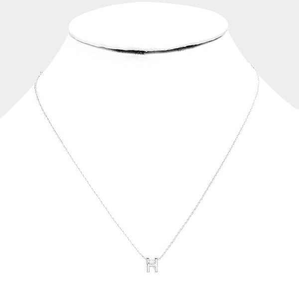 White Gold Monogram Necklace