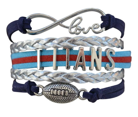 Tennessee Titans Leather Wrap Bracelet