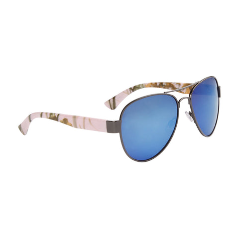 Women's Camo Mirrored Aviator Sunglasses