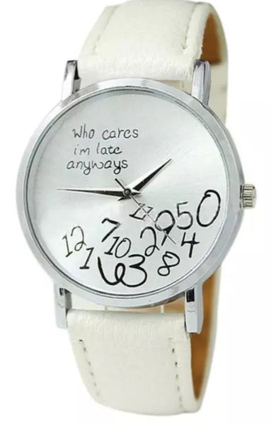"""Who Cares"" Wrist Watch"