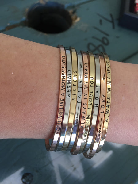 Inspirational Message Bracelets