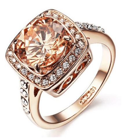 Rose Gold Champagne Ring