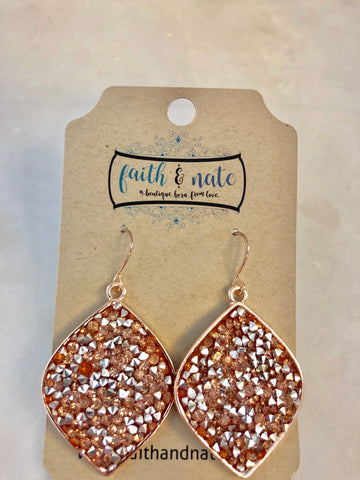 Shimmy Rose Gold Earrings