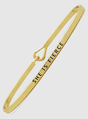 Inspirational Message Bracelets - Gold