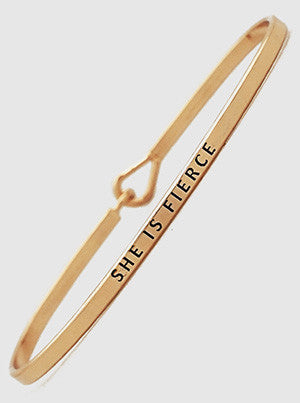 Inspirational Message Bracelets - Rose Gold