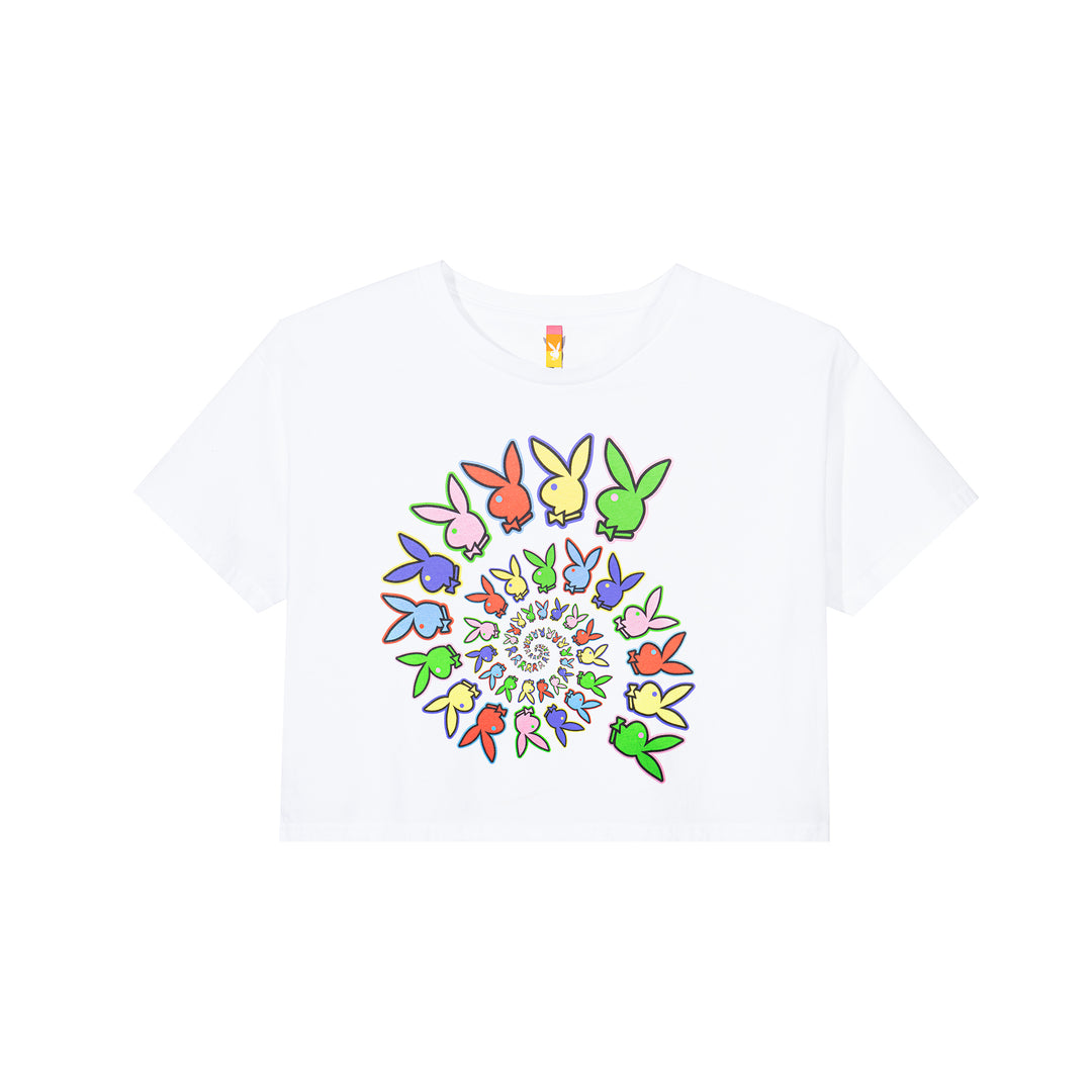 Color Bar Spiral Women's Cropped T-Shirt