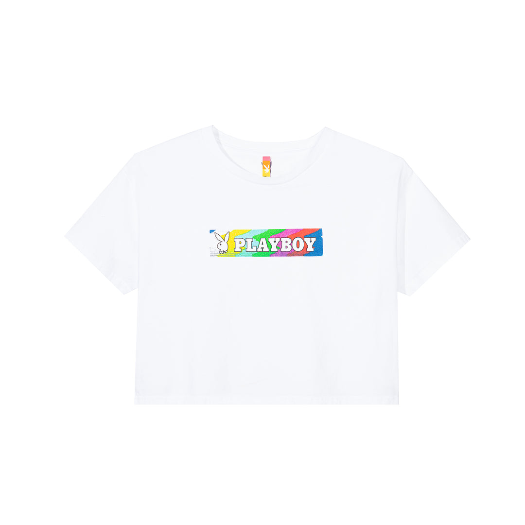Color Bars Static Women's Cropped T-Shirt