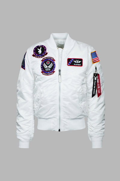 4ac0ce16e Vandy-1 Alpha Bomber Jacket - White