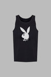 Poolside Playboy Tank Top - Black
