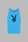 Poolside Playboy Tank Top - Summer Blue