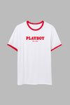 Playboy Classic Ringer Tee - Red