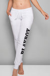 Playboy Basics Logo Jogger Pants - White