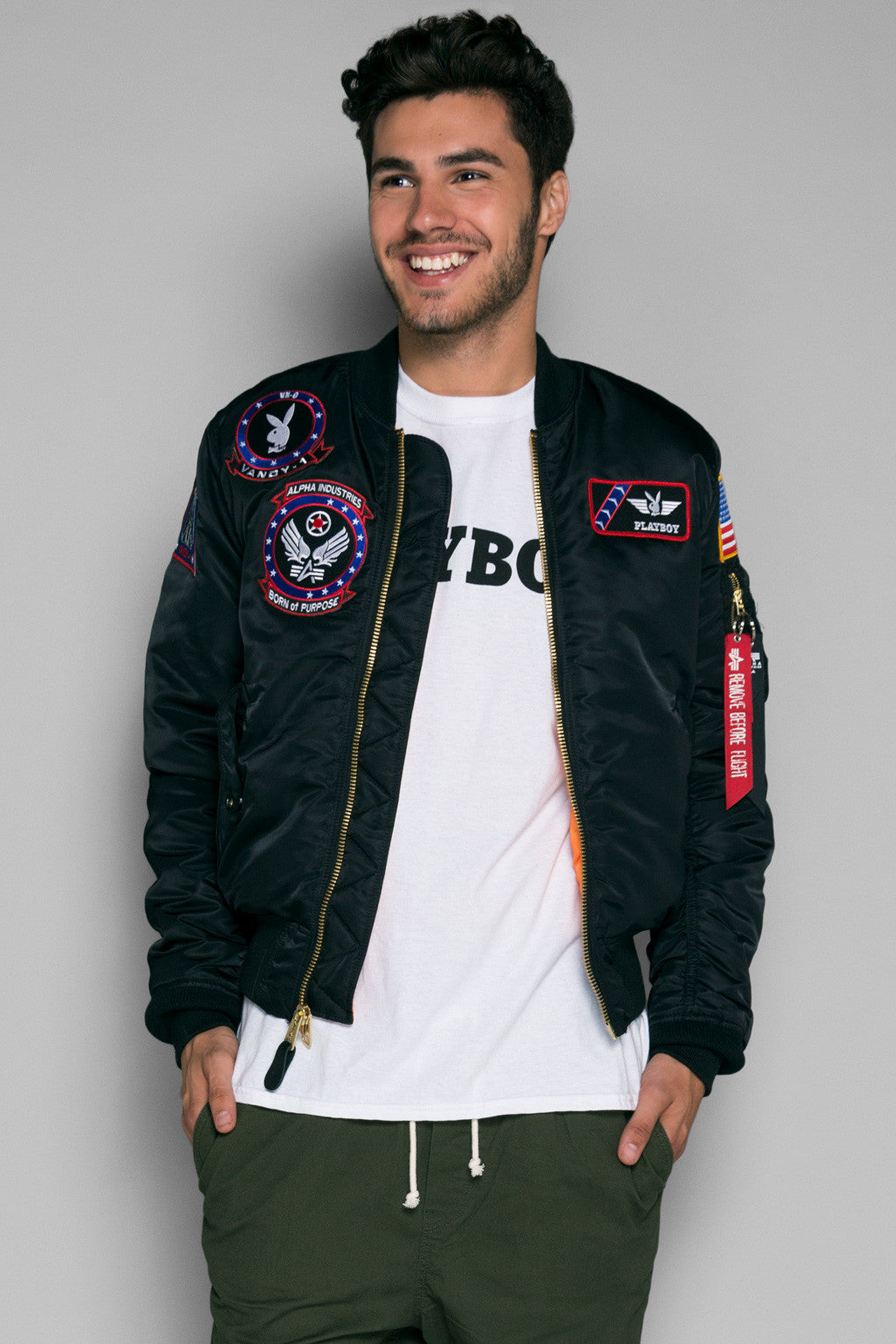 Vandy-1 Alpha Bomber Jacket | Playboy Jackets | Playboy Shop