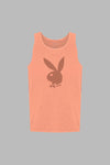 Poolside Playboy Tank Top - Coral