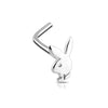 Playboy Rabbit Head Nose Ring - 14Kt Gold or White Gold