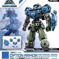 Bandai - 30mm 1/144 Option Armor, for Special Squd Portanova, Light Blue