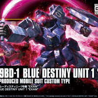 "Bandai - RX-79BD-1 Blue Destiny Unit 1 ""Exam""  HG 1/144 Model Kit"