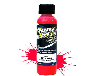 Spaz Stix - Hot Pink Fluorescent Airbrush Ready Paint, 2oz Bottle