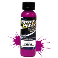 Spaz Stix - Purple Fluorescent Airbrush Ready Paint, 2oz Bottle