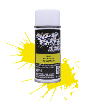 Spaz Stix - Solid Yellow Aerosol Paint, 3.5oz Can