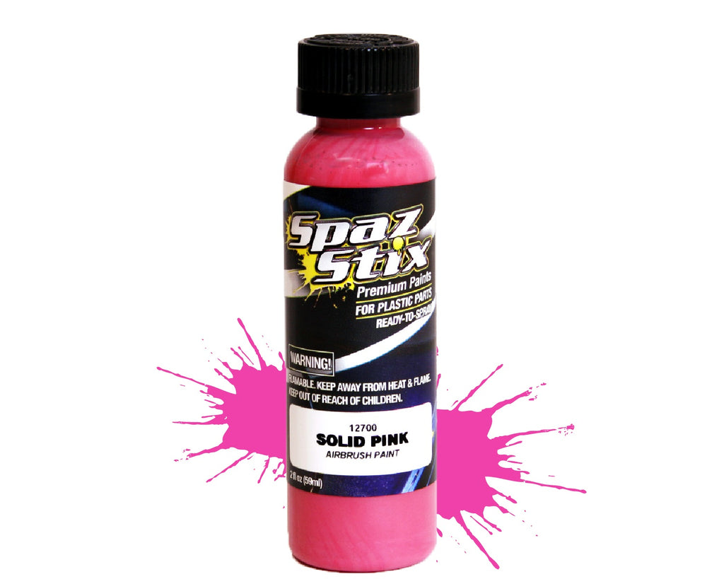 Spaz Stix - Solid Pink Airbrush Ready Paint, 2oz Bottle
