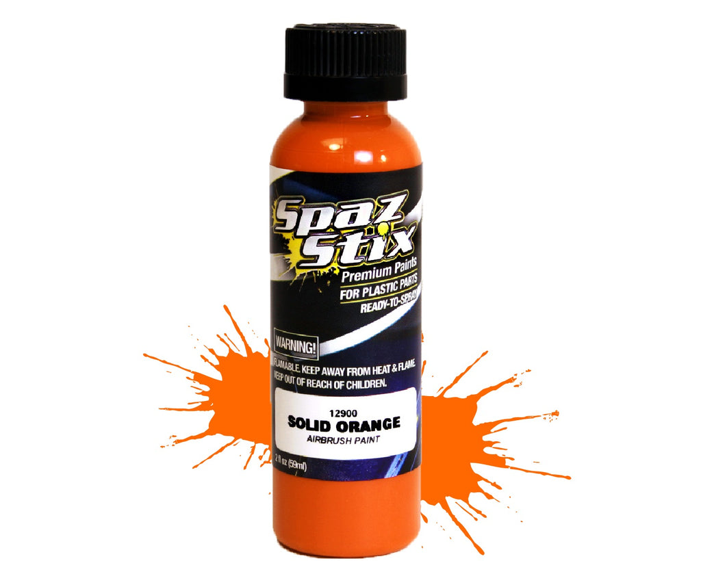 Spaz Stix - Solid Orange Airbrush Ready Paint, 2oz Bottle